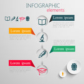 Infographic elements with education signs — Stock Vector