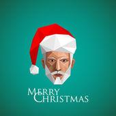 Santa claus head — Stock Vector