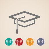 Icônes de graduation cap — Vecteur