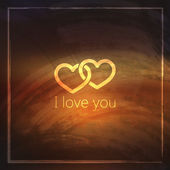 I love you. abstract grunge background for web or print design. — Vector de stock