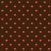Abstracte naadloze patroon met roze harten — Stockvector