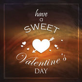 Have a sweet Valentines day. Abstract holiday background with hearts — Vettoriale Stock