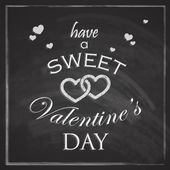 Abstract holiday background with hearts and chalkboard texture. Valentines day concept — Vector de stock