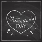 Abstract holiday background with hearts and chalkboard texture. Valentines day concept — Stock Vector