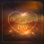 Abstract holiday background with hearts and grunge texture. Valentines day concept — 图库矢量图片