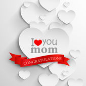 Mothers day concept — Stock Vector