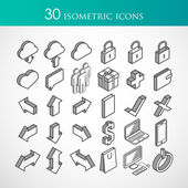 Isometric vector icons — Stock Vector