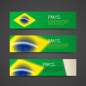 Banners with brazil flag — Stock Vector