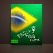 Brazil flag — Stock Vector
