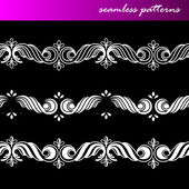 Ornamental lace patterns — Stock Vector