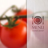 Background with tomatoes — Vecteur