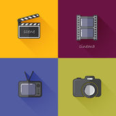 Icons for media industry — Stock Vector