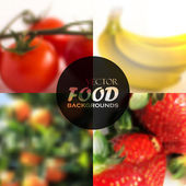 Food backgrounds — Stock Vector
