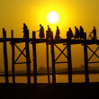 Uben bridge on Mandalay, Myanmar — Stock Photo