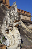 Serpent Stone on Chiang mai temple, Thailand — Stock Photo