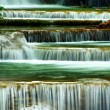 Close-up Huay mae Ka Min waterfall in kanchanaburi, Thailand — Stock Photo
