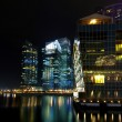 Singapore cityscape Modern building at night — Stock Photo