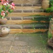 Ornament walkway and stair in garden  — Stock Photo