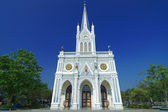 Church, Nativity of Our Lady Cathedral, samut songkhram, Thailan — Stock Photo