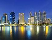 Landscape Bangkok city at twilight — Stock Photo