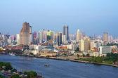 Bangkok cityscape Modern building river side,Thailand — Stock Photo