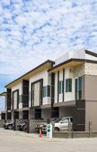 Moderna nya bostäder egendom, bangkok, thailand — Stockfoto