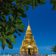Laem sor pagoda on sea background, samui Island,Thailand — Stockfoto