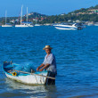 KOH SAMUI, THAILAND - JUNE 29:Unidentified fisherman with small  — Stock Photo