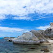 Bizarre Rock (Hin Ta Rock) on beach background, Samui Island , S — Foto Stock