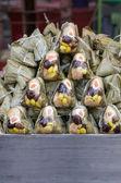Fresh rice dumpling or zongzi. Chinese food dim sum — Stock Photo