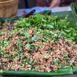 Thai Spicy minced meat salad, Larb Moo — Stock Photo