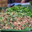 Stock Photo: Thai Spicy minced meat salad, Larb Moo