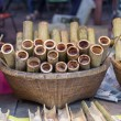 Stock Photo: Glutinous rice roasted in bamboo joints