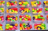 Many Deletable imitation fruits on the box, Traditional Thai Des — Stock Photo