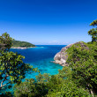 Tropical beach, Top view of Similan Islands, Andaman Sea, Thaila — Stock Photo