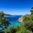 Tropical beach, Top view of Similan Islands, Andaman Sea, Thaila — Stock Photo