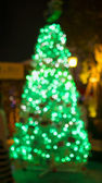 Christmas Tree, Blurred Photo bokeh — Stock Photo