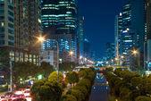 Bangkok cityscape Modern building at twilight time,Thailand — Stock Photo