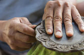 Carving clay for make earthenware — Stock Photo