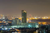 Bangkok cityscape which can see river view at twilight, thailand — Stock Photo