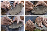 Set of Carving clay for make earthenware — Stock Photo