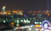 Bangkok cityscape at twilight time, Blurred Photo bokeh — Stok fotoğraf