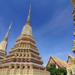 Wat Pho, Thai Architecture in temple at Bangkok of Thailand — Stock Photo