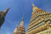 Wat pho, chrám ležícího buddhy, bangkok, thajsko — Stock fotografie