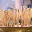 Burning incense in Chinese temple — Stock Photo #44494259