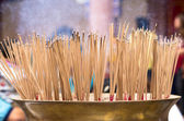Burning incense in Chinese temple — Stock Photo