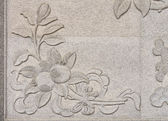 Flower sculptures on the temple walls, public temple in thailand — Zdjęcie stockowe