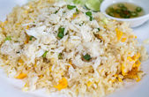 Fried rice with crab in plate,Thai cuisine — Stock Photo