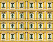 Multi yellow windows wall, background — ストック写真