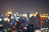 城市景观景,模糊的照片,在那黄昏时分的城市景观 — 图库照片